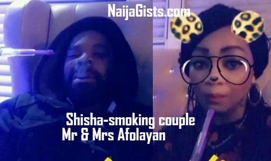 gabriel afolayan wife smoking shisha