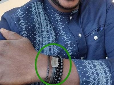 odunlade adekola wears talisman bracelets protection good luck