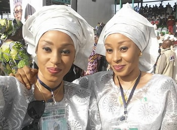 twins sisters meet buhari aso rock