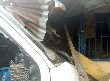 van crashes tailor shop abia