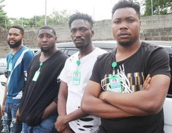 yahoo boys arrested lekki lagos photos
