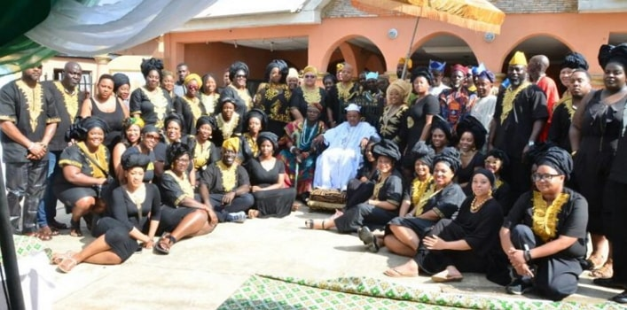 70 african americans visit alaafin oyo state