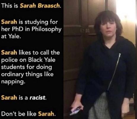 Sarah Braasch racist