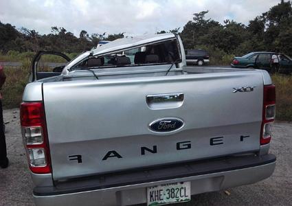 ford ranger somersaulted 10 times bayelsa