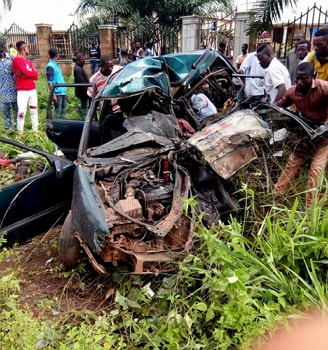 Fatal Accident Kills All Car Passengers In Abia State Blood Bath On
