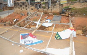fayemi campaign posters destroyed