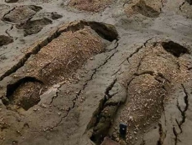 flood damages graves kano cemetery