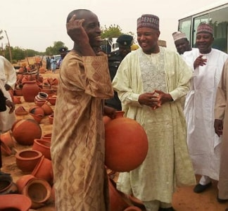 nigerian governor clay pot residents
