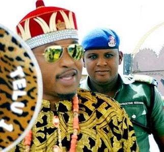 oluwo iwoland wears igbo attire
