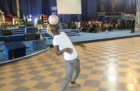 nigerian pastor hires joggler to perform in church