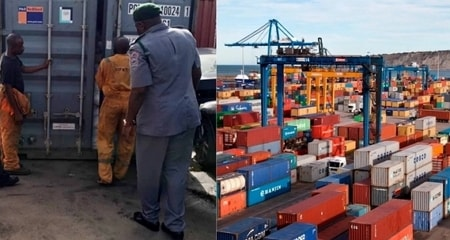 35 containers tramadol seized custom