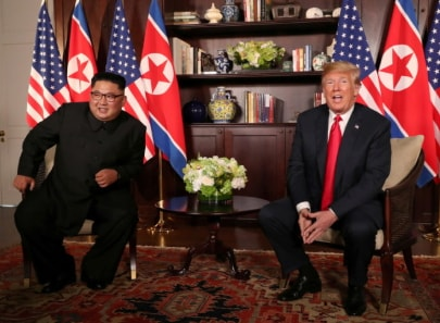 Kim Jong Un donald trump meet singapore