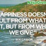ben carson quotes giving