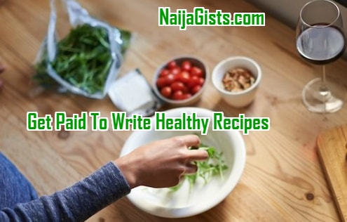 get paid write recipes home