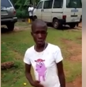 nigerian girl caught incantations church altar