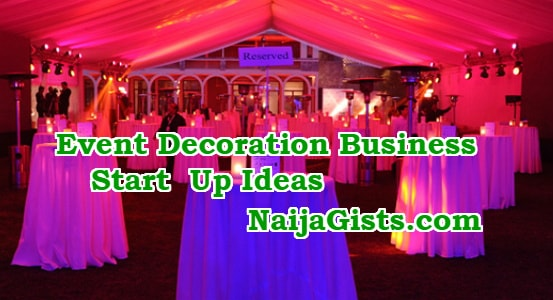 how to start event decoration business nigeria
