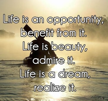 life is an opportunity quotes