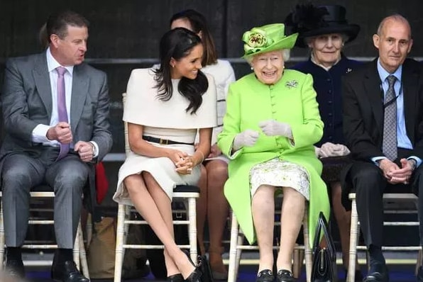 meghan markle steps out queen elizabeth