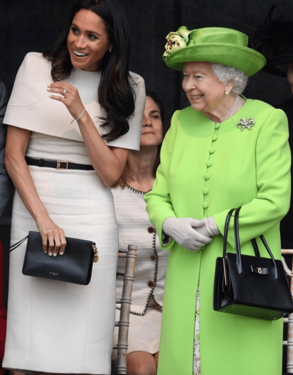meghan markle steps out queen