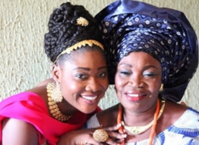 mercy johnson mother burial