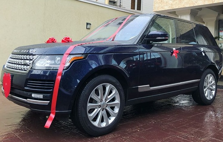 peter okoye buys range rover evoque suv wife