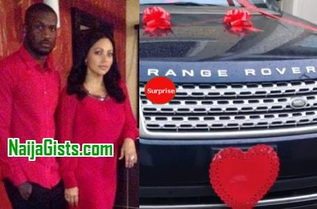 peter okoye buys range rover sport wife