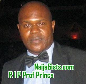 professor prince efere dead