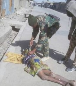 soldiers shot suicide bombers dead mammy market