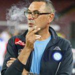 Maurizio Sarri smoking room