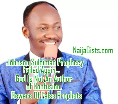 apostle suleiman false prophet