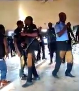 drunk sars officers dancing anambra