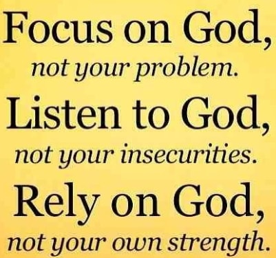 focus on God quotes