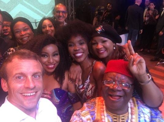 france president selfie nollywood stars