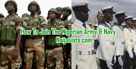 how to join nigerian army navy graduate