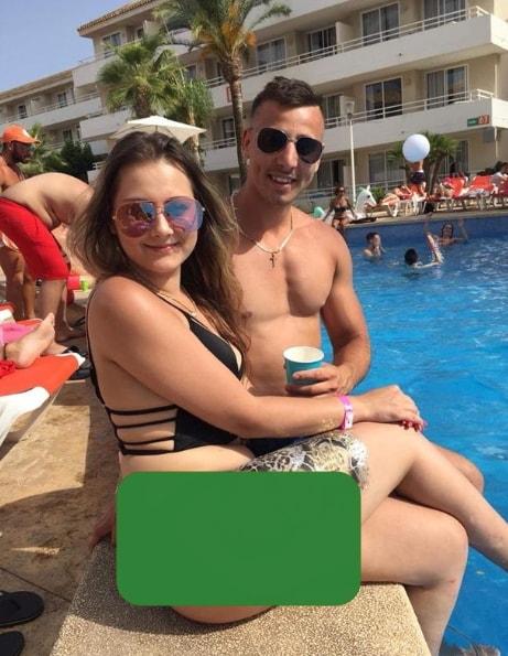 man break necks jump swimming pool vacation