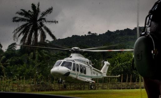 police chopper aerial surveillance ekiti governor house