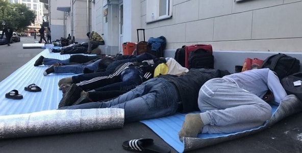 nigerians stranded moscow russia evacuated