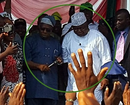 obasanjo attends rally in law abeokuta ogun state