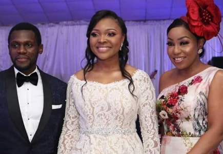 olu jacobs son white wedding photos