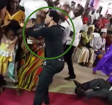 pastor slaps church members deliverance