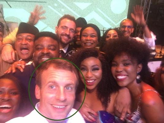 emmanuel macron selfie nollywood actors