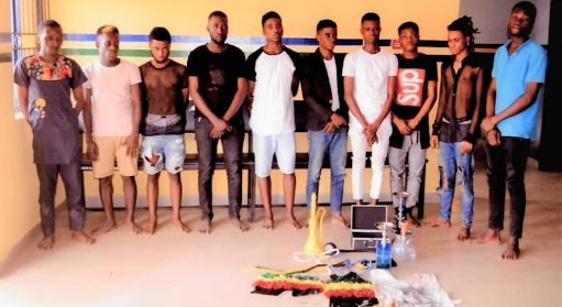 57 gay men arrested homosexual cult ritual lagos