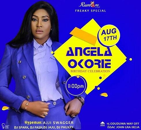 angela okorie birthday party rumors night club