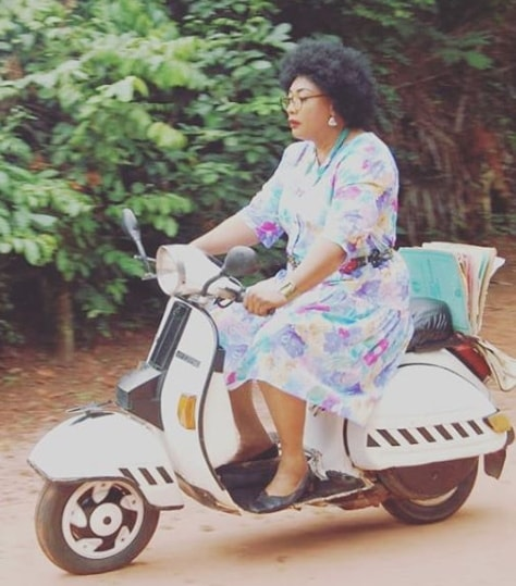 eucharia anunobi riding bike