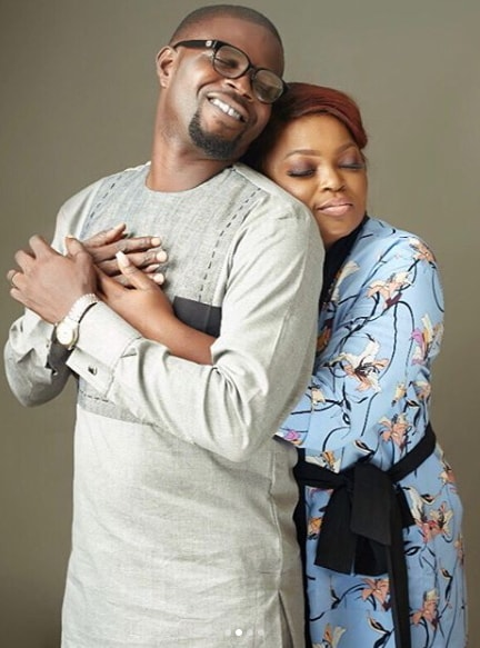 funke akindele 2nd wedding anniversary picture