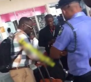jim iyke arrested police airport