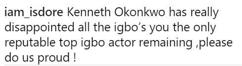 kenneth okonkwo disappointed igbos