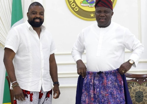 kunle afolayan baggy pants for men