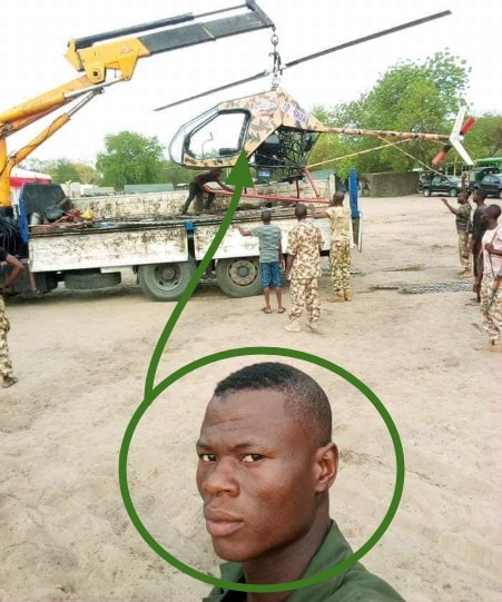 man design nigerian army helicopter
