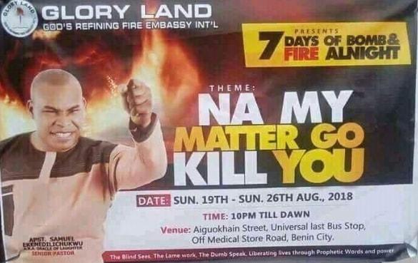 na my matter go kill you
